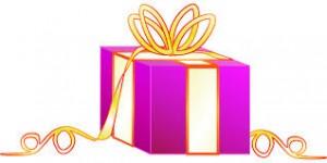 scatola regalo viola